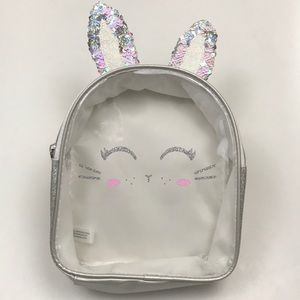 Justice Sequin Ears Clear Front Backpack